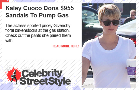 Kaley Cuoco Dons $955 Givenchy Floral Birkenstocks At Gas Station
