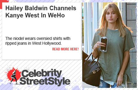 Hailey Baldwin Channels Kanye In West Hollywood