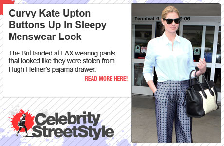 Curvy Kate Upton Keeps It Buttoned Up In Sleepy Menswear Look