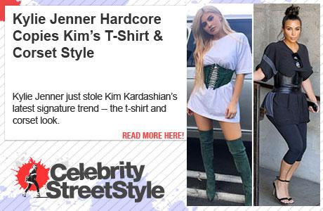 Kylie Copies Kim's Corset Style