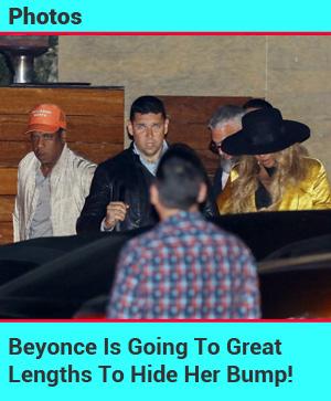 Beyonce Hiding Her Bump