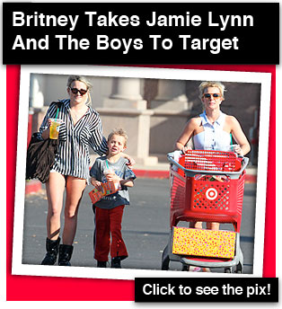 Britney Takes Her Family To Target