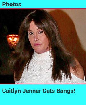 Caitlyn Jenner Cuts Bangs