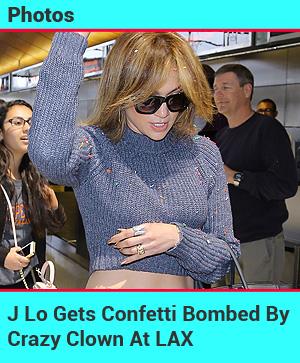 J Lo Confetti Bombed