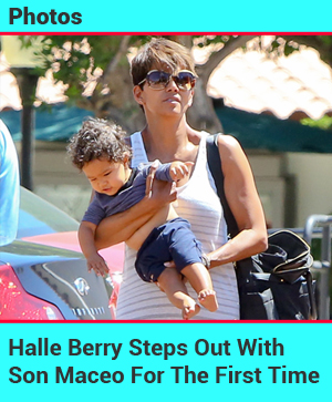 Halle Berry Makes Her First Appearance With Son Maceo