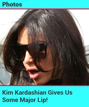 Kim Kardashian's Lips Look Overly Inflated