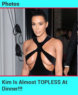 Kim topless