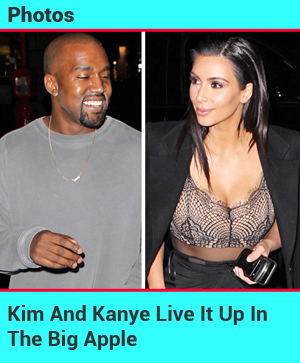 Kim And Kanye Have A Blast At Dinner In NYC